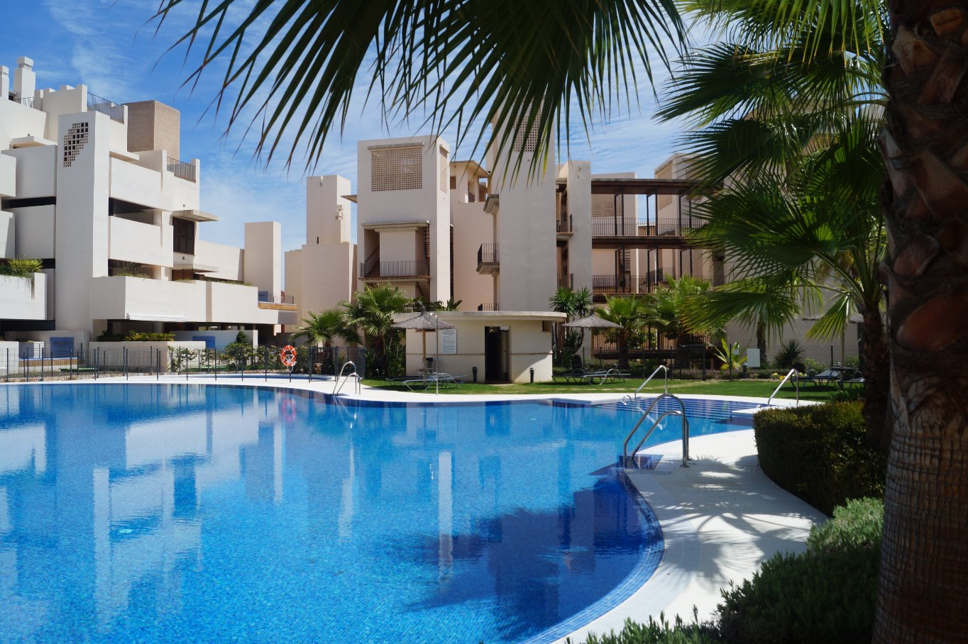 Modern luxury apartments on the beach, Estepona, Costa del Sol.
